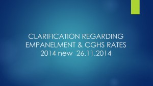 CLARIFICATION REGARDING EMPANELMENT & CGHS RATES 2014 new