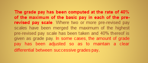 Recommendations of the VI CPC grade pay