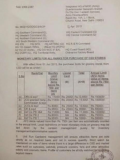 CSD limits from 1.6.2015