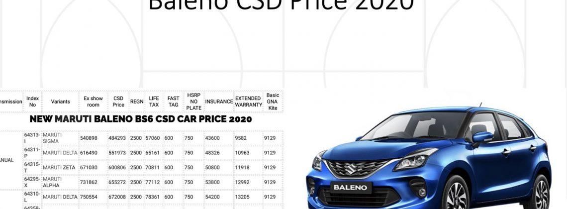 baleno csd price
