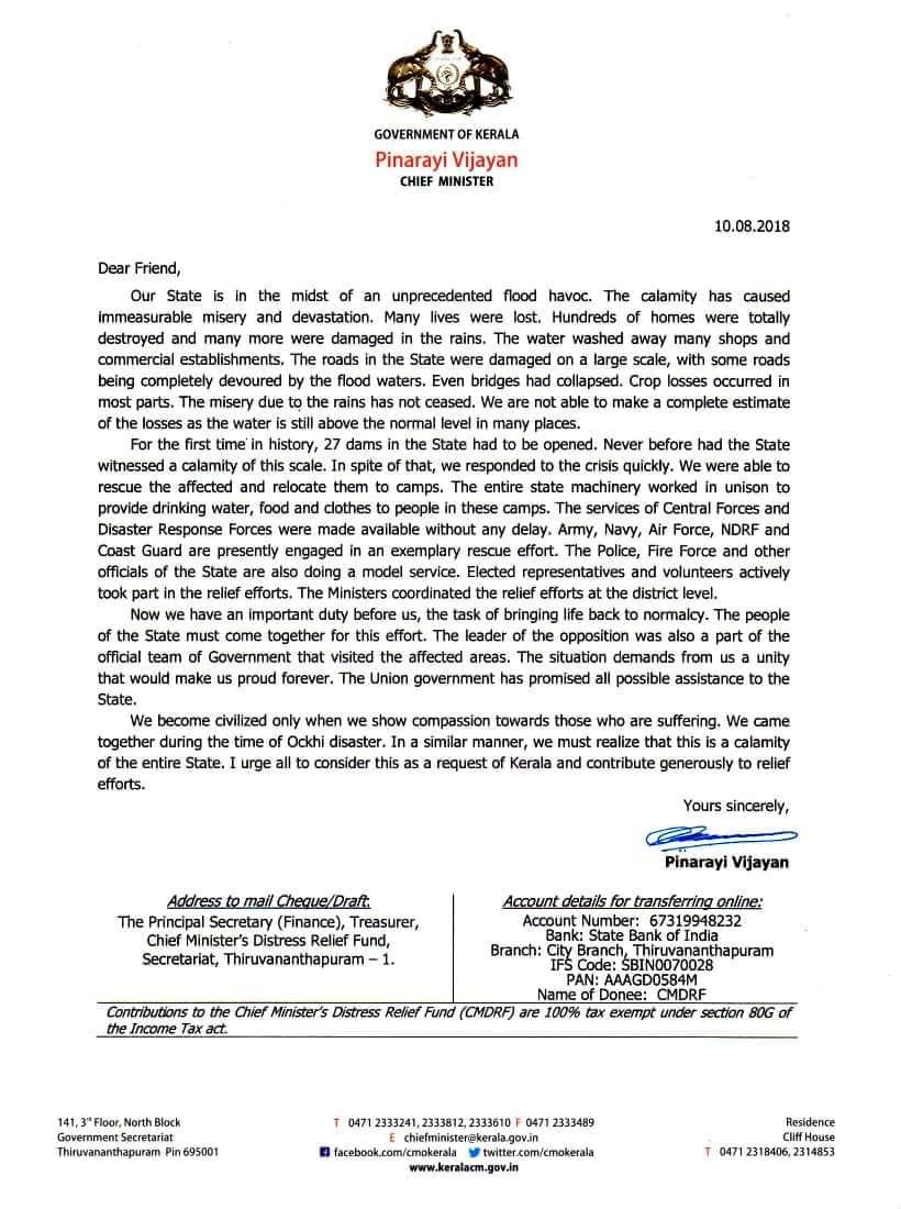 Com. Pinarayi Vijayan Honble Chief Minister of Kerala