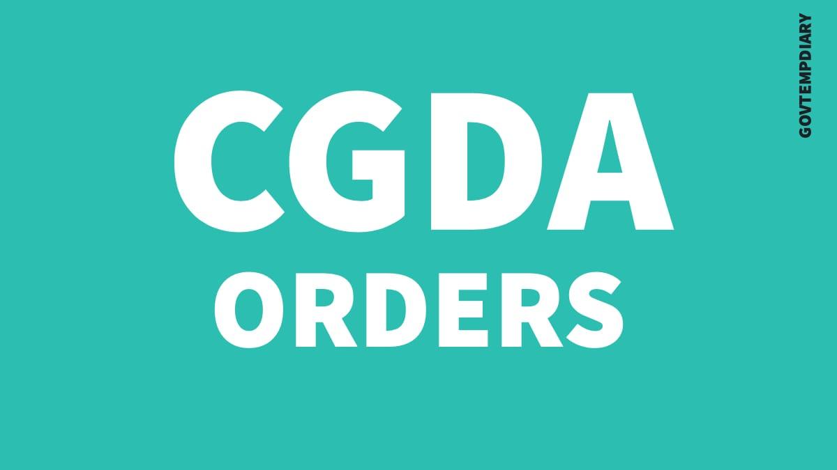 CGDA ORDERS