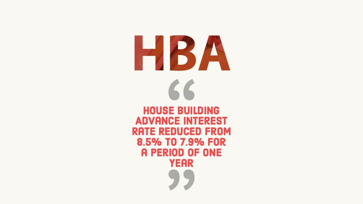 House Building Advance