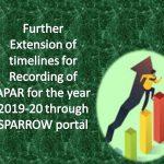 APAR for the year 2019-20 through SPARROW portal