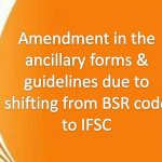 Amendment in the ancillary forms & guidelines