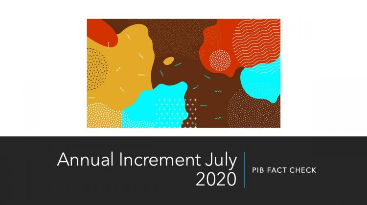Annual increment july 2020 PIB