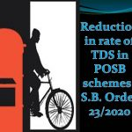 Reduction in rate of TDS in POSB schemes