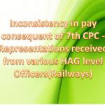 Representations received from various HAG level Officers(Railways)