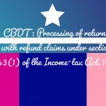 CBDT - Processing of returns with refund claims under section 143(1) of the Income-tax Act,1961