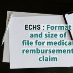 Format and size of file for medical reimbursement claim