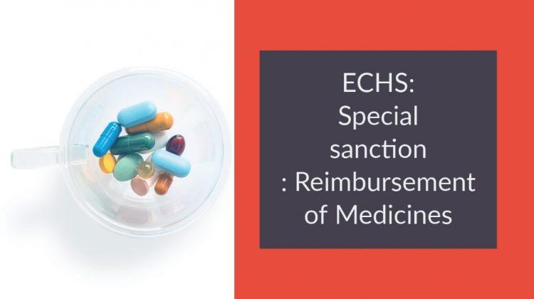 ECHS_ Special sanction _ Reimbursement of Medicines