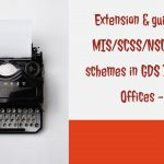 Extension & guidelines of MIS_SCSS_NSC_KVP_PPF schemes in GDS Branch Post Offices - DOP