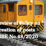 Review of Policy on creation of posts - RBE No.48_2020