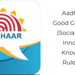 Aadhaar for Good Governance (Social Welfare, Innovation, Knowledge) Rules, 2020