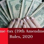 Income-tax (19th Amendment) Rules, 2020