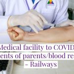 D.O.letter dated 24.07.2020 regarding medical facility to COVID-19 parents/blood relatives of railways employees