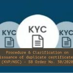 Procedure & Clarification on issuance of duplicate certificates (KVP_NSC) - SB Order No. 30_2020