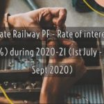 State Railway PF - Rate of interest(7.1%) during 2020-21