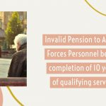 Invalid Pension to Armed Forces Personnel before completion of 10 years of qualifying service