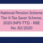 National Pension Scheme Tier II-Tax Saver Scheme, 2020 (NPS-TTS) - RBE No. 82_2020