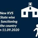 New KVS - State wise list functioning in the country as on 11.09.2020