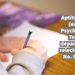 Aptitude Test (earlier Psychological Test) in departmental selection - RBE No. 87/2020