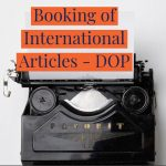 Booking of International Articles - DOP