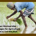 CLC Order- Revised VDA minimum wages for Agriculture workers w.e.f 1st Oct 2020