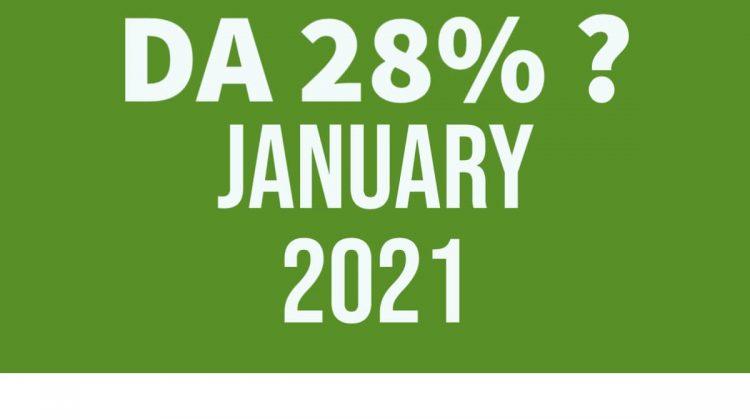 DA from jan 2021