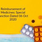 Reimbursement of Medicines_ Special sanction Dated 06 Oct 2020