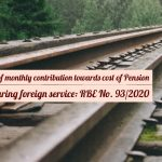 Calculation of monthly contribution towards cost of Pension payable during foreign service- RBE No. 93/2020