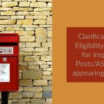 Clarification on Eligibility Criteria for inspector Posts_ASPOs for appearing in LDCE