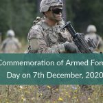Commemoration of Armed Forces Day on 7th December, 2020
