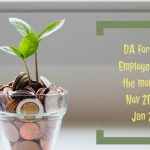 DA for banks Employees from the months of Nov 2020 to Jan 2021