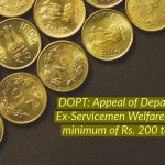 DOPT_ Appeal of Department ofEx-Servicemen Welfare to donate minimum of Rs. 200 to AFFDF
