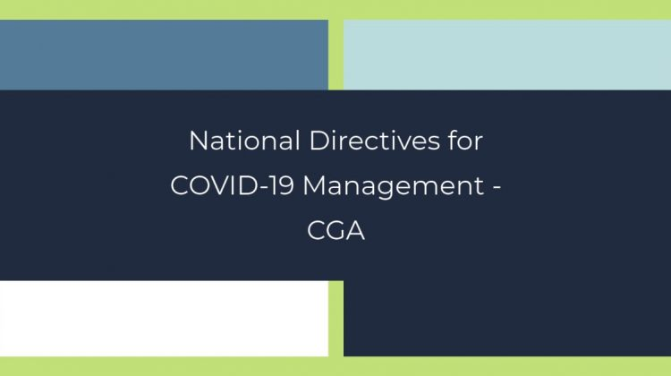 National Directives for COVID-19 Management - CGA
