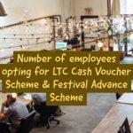 Number of employees opting for LTC Cash Voucher Scheme & Festival Advance Scheme