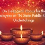 On Deepavali Bonus for the employees of TN State Public Sector Undertakings