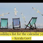 Public holidays list for the calendar year 2021 - Kerala Govt