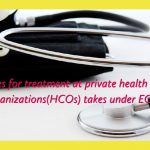 Rates for treatment at private health care organizations(HCOs) takes under ECHS