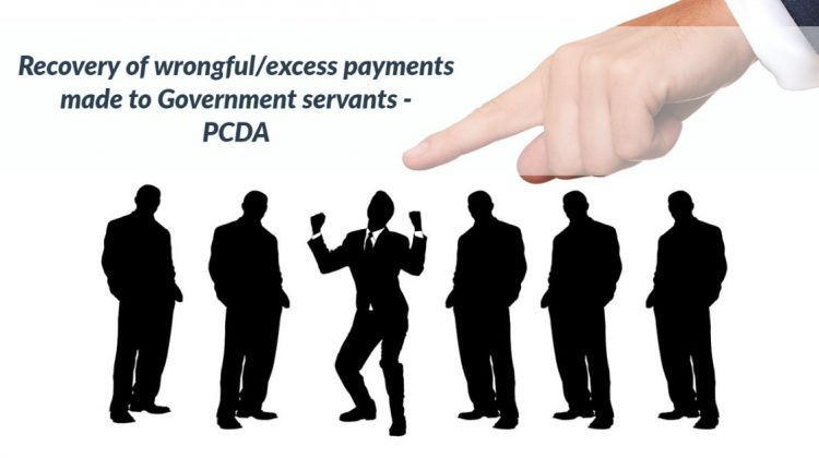 Recovery of wrongful_excess payments made to Government servants - PCDA