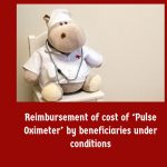 Reimbursement of cost of 'Pulse Oximeter' by beneficiaries under conditions