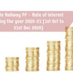 State Railway PF – Rate of interest during the year 2020-21 (1st Oct to 31st Dec 2020)