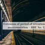 Extension of period of retention of Railway accommodation - RBE No. 121/2021