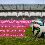 Grant additional increments to sportspersons for their sports achievements prior to 31.12.2020